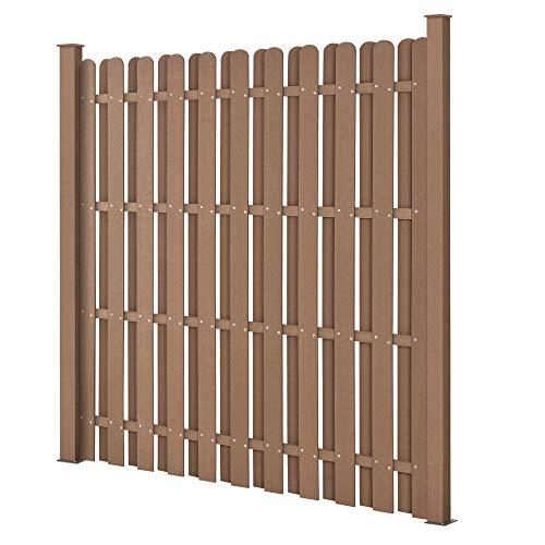neu.holz Piquete cerca del jardín Panel de madera compuesto plástico Wpc para marrón