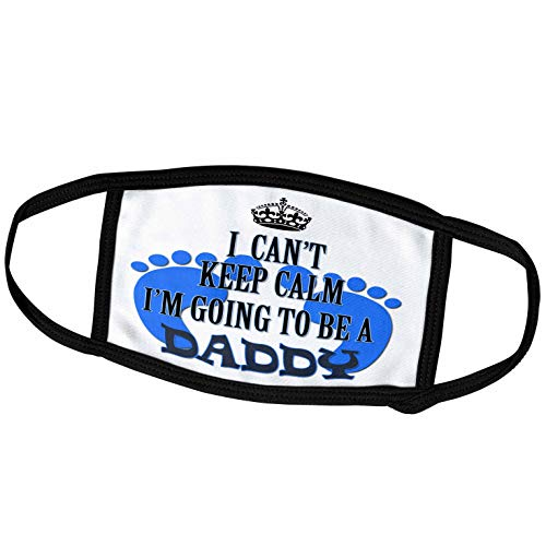 3dRose I Cant Keep Calm Im Going to be a Daddy. Baby boy. Funny Saying. - Face Masks (fm_218170_1)