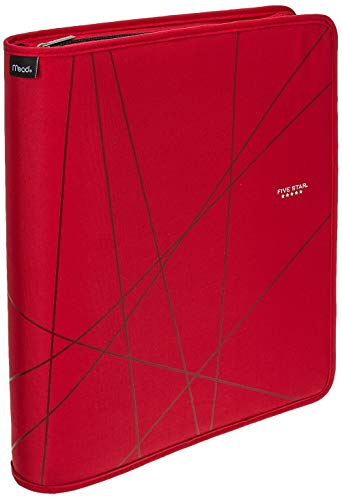 """Five Star First Gear Zipper Binder, 1-1/2 Inch 3 Ring Binder, 8-1/2"""" x 11"""", Color Selected For You, 1 Count (29058)"""