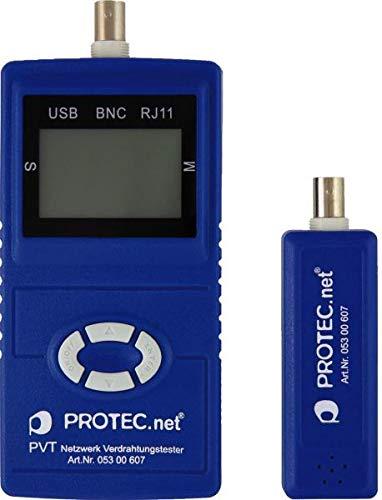 PROTEC.Net PVT Netzwerk Verdrahtungstester, INKL. 9 V Blockbatterie