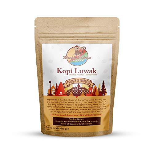 Monkey Business Coffee - Wilde Kopi Luwak Kaffeebohnen - 5 Kilogramm (Andere Gewichte Und Bohnentypen Erhältlich) - Ethisch Von Freilebenden Tieren Bezogen (Aus Indonesien)