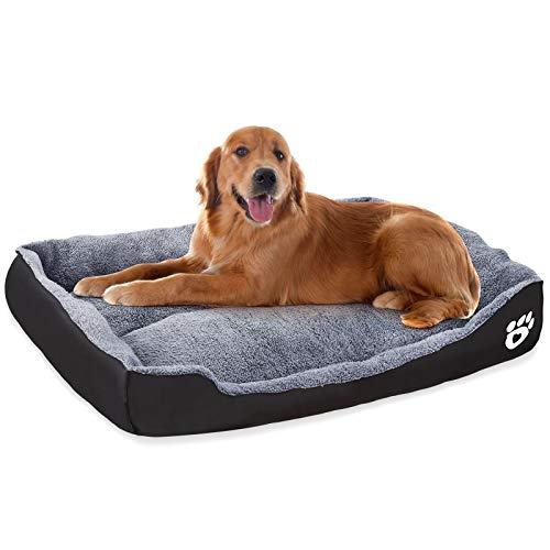 VICSPORT Cama para Perros Cálida Suave Lavable a Máquina Tejido de Felpa Cómoda Cama para Gatos Perros Sofá Colchón para Perro - XXL
