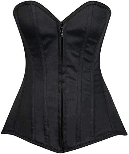 Daisy corsets Lavish Plus Size Black Cotton Overbust Corset Dress