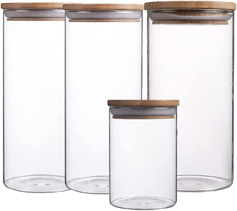 XLSQW Tall Clear Airtight Food Storage Bamboo Regular dealer Cover Gl Jar Ranking TOP15 with