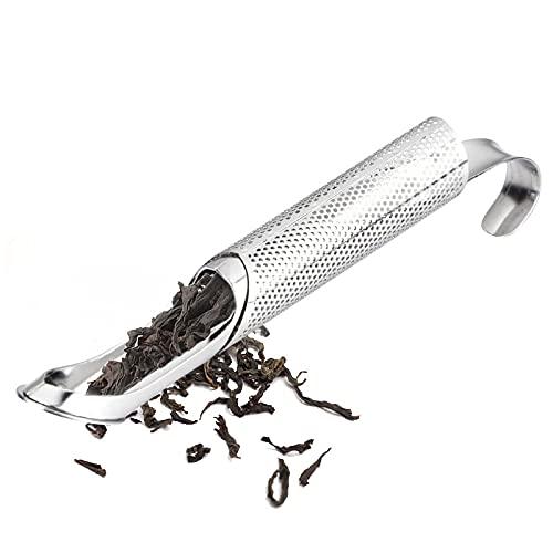 Infusor de té de acero inoxidable diseño creativo tubo colador de té de metal para taza filtro de lujo para Puer té hierbas té herramientas accesorios
