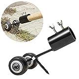 Hete-supply Unkrautentferner-Werkzeug mit Rädern, Garten-Unkrauthaken, 2-in-1-Roll-Unkrautvernichter, manueller Rasenmäher mit Grasschneider, Unkraut-Abzieher-Werkzeug für Auffahrten Gehwegterrassen