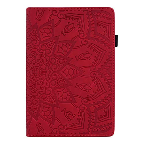 TXLING Case for iPad Mini 1/2 / 3/4 / 5 (7.9 inch) Premium Leather Folio Stand Case Smart Cover, Multiple Viewing Angles tablet Case, with touchscreen pen (red)