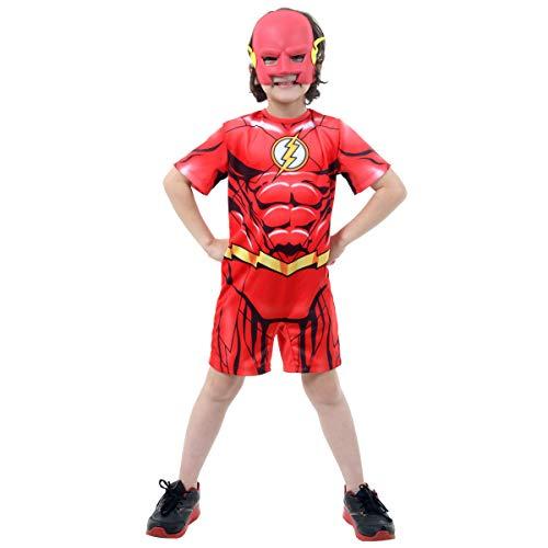 Fantasia the Flash Curto - DC Infantil 915036-G, Vermelho, Sulamericana Fantasias