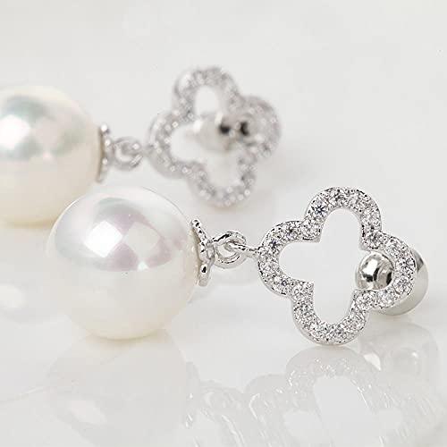 YFZCLYZAXET Earrings Women Studs Fashion Casual Zircon Earrings Temperament Simple Classic Earrings Ladies Accessories-White-T07E05