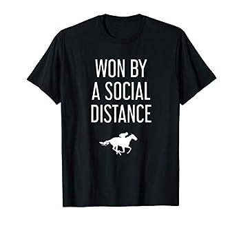 Funny horse Kentucky race social distance Derby T-Shirt