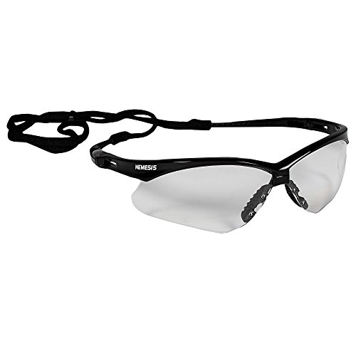 KLEENGUARD  V30 Nemesis Safety Glasses (25676), Clear with Black Frame, 12 Pairs/Case
