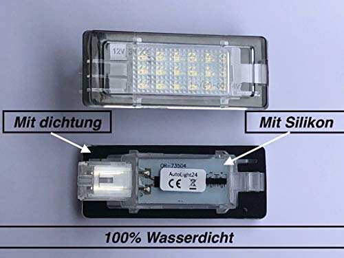 2 x TOP Module 18 SMD LED Kennzeichenbeleuchtung Nummernschildbeleuchtung (73504)