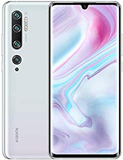 Xiaomi Mi Note 10 Smartphone, Dual Sim, 128GB, 6GB Ram - Glacier White