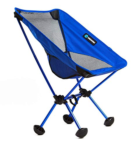 WildHorn Outfitters Silla Plegable portátil Terralite IR de Campamento, a la Playa, o Hacer Senderismo. Soporta 159 kg. Incluye Patas TerraGrip. No se hundirá en la Arena ni en el Lodo.