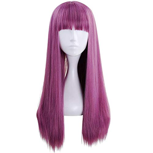 Ani · Lnc, Perücke, langes glattes violettes Haar, für Cosplay, Kostüm, Party