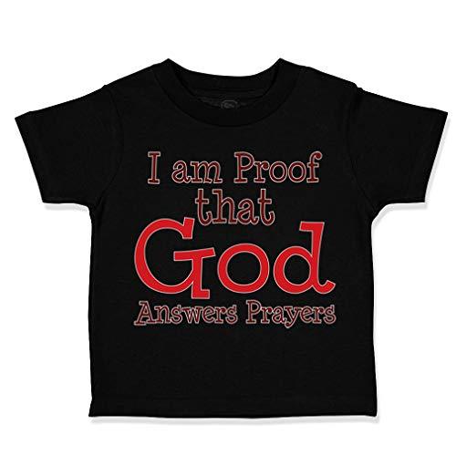 Custom Toddler T-Shirt I Am Proof That God Answers Prayers covid 19 (One Christian Toddler Shirt coronavirus)