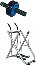 Fitness World Free Gyder Training Machine for Legs and arms with aB Wheel Total Body Exerciser for abdominal Exercise