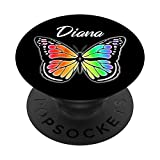 Diana Gift Butterfly Rainbow Watercolor Name
