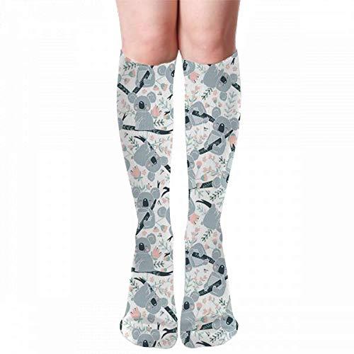 Medlin Calcetines de compresión lindos Koalas Calcetines deportivos acogedores de 50 cm para hombres, mujeres y niños