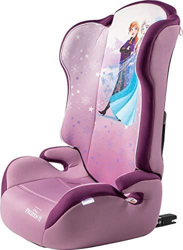 Disney Frozen Elsa Anna Seggiolino Auto Bambini Isofix Gruppo 2/3 (15-36Kg), Lilla