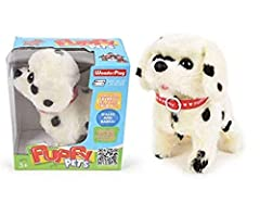"Walking & Tail Wagging and Barking Plush Dog w/ barking ! Requires 2 ""AA"" batteries (not included). This item requires the switch to be continually pushed for toy to stay activated. Item is brand new but had to be removed from its original package in..."
