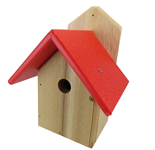 Nature Products USA Chickadee Birdhouse, Red Recycled Poly Lumber...