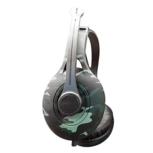 Fransande B14 - Casco de juego de camuflaje 3,5 mm Cool Manger Pollo Lol Vox en línea 1,2 m micrófono casco universal 40 mm