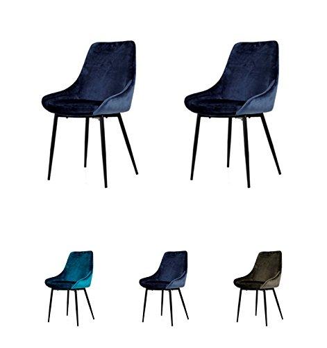 Tenzo Lex Designer Stuhl, Stahl, Nacht Blau / Schwarz, One Size