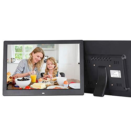 Digitaler Bilderrahmen mit 1280X800-Bildschirm, Unterstützung für digitale Bilderrahmen 720P-Video, Musik/Uhr, Kalender, automatisches Ein- und Ausschalten, 16: 9-Breitbildfernbedienung (13 Zoll)