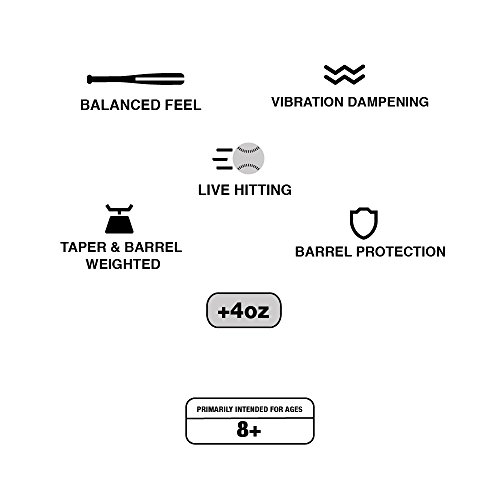 Varo RAP Hittable Training Sleeve, 4oz, for Baseball (MLB Authentic) - Bat Protection - Live Batting, Extends Bat Life, Develops Swing Speed, and Reduces Vibration