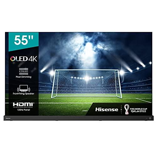 Hisense 55A9G OLED 139 cm (55 Zoll) Fernseher (4K OLED HDR Smart TV, HDR 10+, Dolby Vision IQ & Atmos, IMAX Enhanced, WCG, USB-Recording, Ultra Slim Design, Alexa Built-in, Google Assistant) 2021