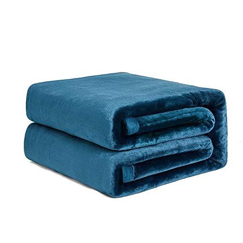 Manta de Lana Super Soft Cozy Ligeras Mantas de Tiro para Todas Las Estaciones Ligeras Super Soft Cozy Luxury Bed Manta Microfibra Azul atlántico (Size : Blue(50x70 Inches))