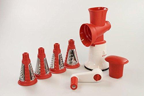 Tupperware Chef Professionale di meccanismo con inserti Bianco/Rosso 10036