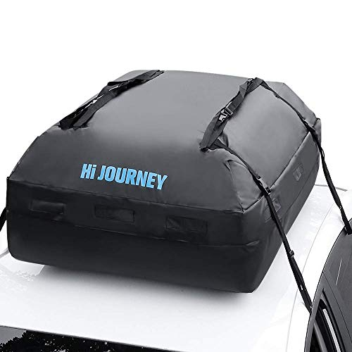 rabbitgoo Rooftop Cargo Carrier Waterproof Car Roof Top Cargo Bag with Heavy Duty Straps, Soft Shell...