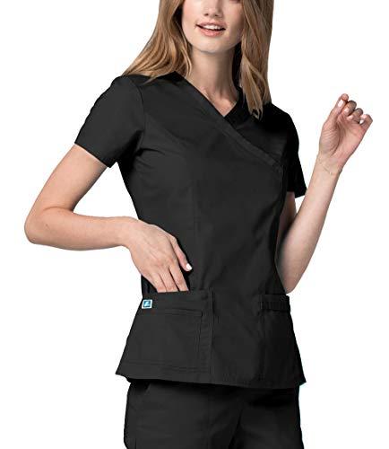 Adar Casaca Laboral de Enfermería para Mujeres - 2638 Color: BLK | Talla: XL