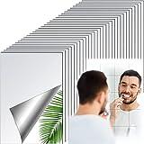 30 Pezzi Fogli a Specchio Flessibili Piastrelle a Specchio Autoadesive Non in Vetro Adesivi a Specchio per Casa Parete Decor (5,9 x 3,9 Pollici)