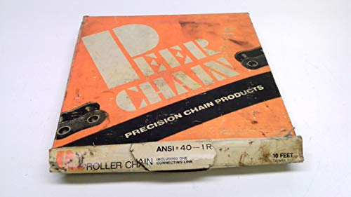 Peer Chain 40-1R, Roller Chain, 10Ft, Pitch: 1/2