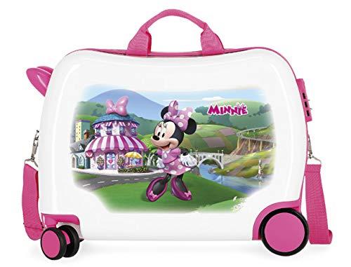 Disney Minnie Joyfull Valigia per bambini Multicolore 50x38x20 cms Rigida ABS Chiusura a combinazione numerica 34L 2,1Kgs 4 Ruote Bagaglio a mano