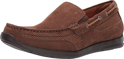 Vionic Men's Astor Earl Slip On Casual Boat Shoe - Walking Shoes with Concealed Orthotic Arch Support Brown 13 Medium US