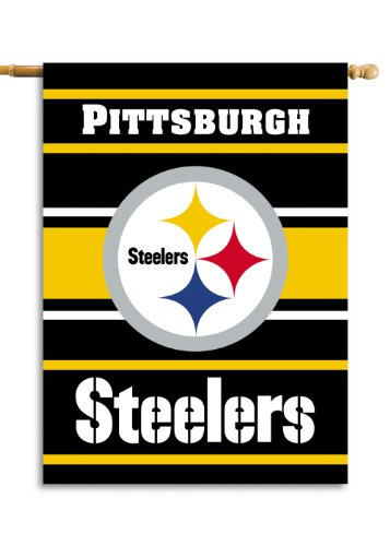 Fremont Die NFL Pittsburgh Steelers 2-Sided House Flag, 28