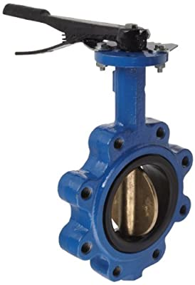 "Dixon BFVL400 Ductile Iron Threaded Lug Style Butterfly Valve with Aluminum Bronze Disc and Buna-N liner, 4"" Size, 200 psi Pressure by Dixon Valve & Coupling"