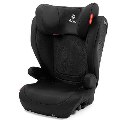 Diono Monterey 4DXT Latch, 2-in-1 Belt Positioning Forward Facing Booster Seat, High Back Booster Mode with Expandable Height, Width, 3-Layers of Protection, 10 Years 1 Car Seat, Black