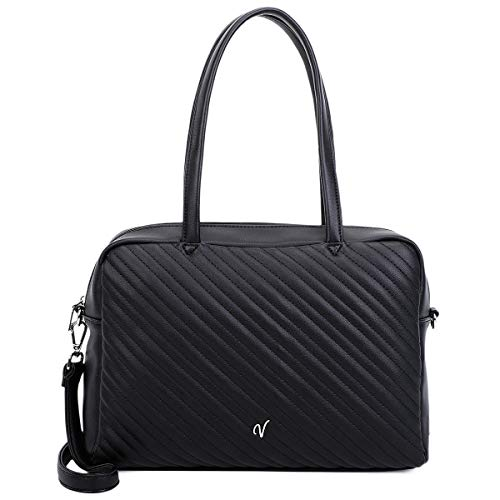 Vleder Bag Shopper CONNY, Black, vegan, bekannt aus GZSZ