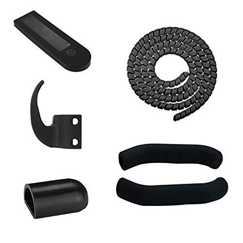 Fauge 1 Juego de Gancho de Nailon con Cubierta Protectora para Scooter, Percha para MAX G30, Accesorios para Scooter EléCtrico, Negro