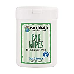 Earthbath Natural Pet Care Ear Wipes.