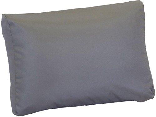 Beo LRP 60x40PY202 Lounge Rückenkissen mit Reissverschluss und wasserabweisendem Stoff, anthrazit, 60 x 40 cm