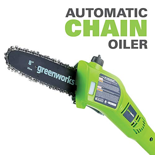 Greenworks 8.5' 40V Cordless Pole Saw, 2.0 AH Battery Included 20672