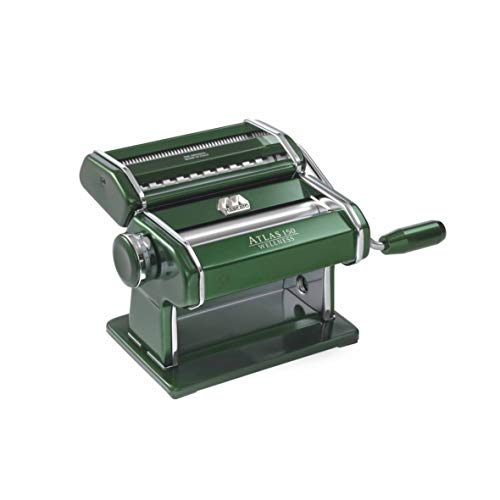 Marcato 8320GN Atlas 150 Machine, Made in Italy, Green, Includes Pasta Cutter, Hand Crank, and...