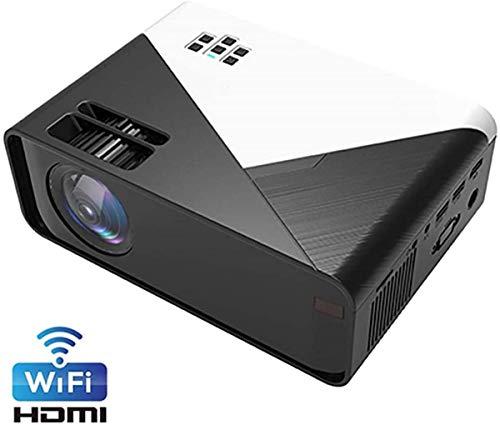 1080P Smart-Projektor, drahtlose WiFi-Full-HD-Mini-Videoprojektoren mit Mehreren Bildschirmen Heimkino-kompatibles VGA/AV/USB/SD-Karte/HDMI/Audio