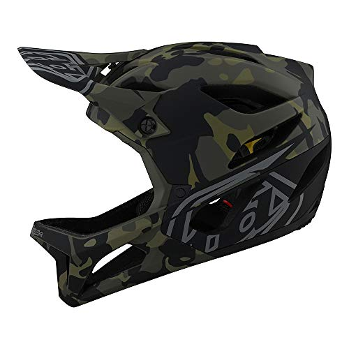 Troy Lee Designs Adult | All Mountain | Mountain Bike | Full Face Stage Helmet Camo W/MIPS (Olive, XS/SM)
